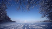 harikalar diyarı : video footage of a nice landscape in Winter with sun and snow in germany, Europe
