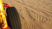 привод : video footage of a buggy trip in the sand desert in peru, south america