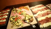 dines : Video footage of Antipasti buffet