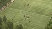 arremesso : video footage of a soccer training in a top view Vídeos