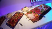dines : video footage of a cold cut platter