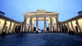 door : timelapse at the Brandenburg Gate in Berlin, germany