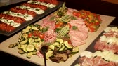 lunchroom : Video footage of Antipasti buffet