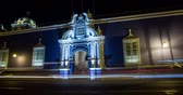 southamerica : 4K Timelapse video footage the city of Trujillo at night in Peru Stock Footage