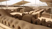 chimu : Video-footage of the Ruins of Chan Chan in Peru, cerca Trujillo. constructed by the Chimor, the kingdom of the Chim?. Chan Chan is the largest Adobe City in the World.