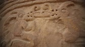 chimu : Video footage of the ruins of the Huaca Arco Iris in Peru, near by Trujillo. Stock Footage