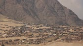 southamerica : Video footage of huts or Slums in the desert near Trujillo, Peru
