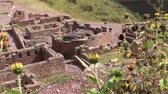 arqueológico : video footage of the Inca Ruins Pisac in the Sacred Valley near Cusco in the Andes of Peru