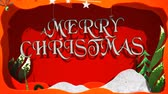 cartão de natal : Merry Christmas and Happy New Year Paper Cut Outs 4K Loop features paper cut-outs animated in a Merry Christmas and Happy New Year message in a loop.
