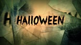 ksi����yc : Scary Halloween Greeting Animated Shards 4K Loop features a wishing you a scary Halloween message with animated broken shards and barely discernible scary images in the background