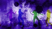 mikrofon : Scroll Dance with Music Notes 4K features dancing female silhouettes with scrolling animated watercolor and ink splashing in the background