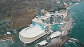 Aerial view Nemo hotel and resort at Langeron Beach Odessa Ukraine