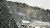 total : Quarry for stone and gravel extraction. Gravel processing plant, surface mine, total day shot Stock Footage