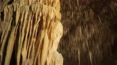 grotto : Stalactite stalagmite cave in Mallorca, Spain Stock Footage