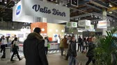 örnekleme : HELSINKI, FINLAND - MARCH 18,2018: Lots of visitors in the big hall during the Show Gastro Helsinki - big trade fair for the hotel, restaurant and catering industry