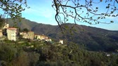 panna : The ancient town of Perinaldo high in the mountains of Liguria in Western Italy Dostupné videozáznamy