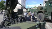 caqui : ESPOO, FINLAND - JUNE 04, 2018: Show modern weapons of The Finnish Defence Forces in honour of the 100th anniversary on the Senate square In Helsinki