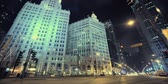 Stad van Chicago in Few timelapses at Night. Chicago, Illinois, Verenigde Staten.