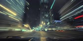 Car Drive Through Chicago High Speed Timelapse. Chicago, Illinois, United States.