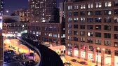 Chicago City Train Timelapse. City Transportation. Chicago, Illinois, United States.