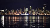 Seattle Skyline bei Nacht. Washington, USA.