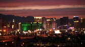 proužek : November 9, 2017. Scenic Sunset in City of Las Vegas, Nevada, United States of America. Famous Colorful Vegas Strip. Dostupné videozáznamy