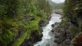 oluşturma : Norwegian Landscape in Southwestern Norway. Scenic River and the Wilderness