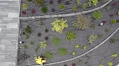 préau : Aerial Footage of Newly Developed Residential Garden. Landscaping and Gardening Theme.
