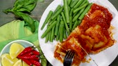 manjericão : Vegetarian Cheese Ravioli With Green Beans
