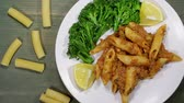 frankfurters : Italian Sausage Penne With Broccoli Stock Footage