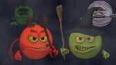 süpürge : Monsters Smiley Guys (Wicked) with Fog  --  The Smiley characters are ready for Halloween with this Monster Smiley Guys (Wicked) video with Green Screen background. The four creatures include Devil, Franky Mummy and Witch