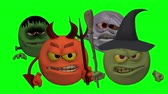 süpürge : Monsters Smiley Guys (Wicked) Green Screen  --  The Smiley characters are ready for Halloween with this Monster Smiley Guys (Wicked) video with Green Screen background. The four creatures include Devil, Franky Mummy and Witch