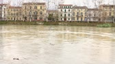 perigo : Flood of Arno River in Pisa