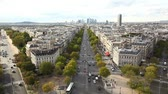 cartão postal : View of Paris from Arc de Triomphe Vídeos
