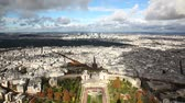built structure : Panoramic View of Paris from Tour Eiffel Stock Footage
