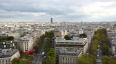 built structure : View of Paris from Arc de Triomphe Stock Footage