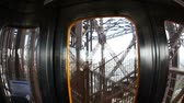 built structure : Inside the Elevator of Eiffel Tower
