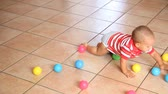 months : Little Child Crawling and Playing