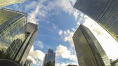doca : Financial District in London, Time Lapse Stock Footage