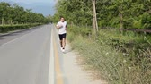 aéreo : Young Man Jogging Vídeos