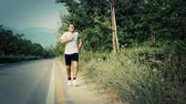 atlântico : Young Man Jogging Stock Footage