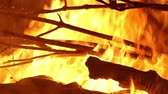 perigo : Burning Fire Close Up Stock Footage
