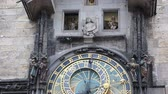 months : Astronomical Clock in Prague Stock Footage