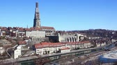 built structure : City of Bern, Panoramic View Stock Footage