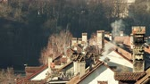 switzerland : Roofs and chimneys in Bern