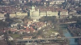 politics : City of Bern, Panoramic View from Gurten Mountain Stock Footage