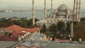 landscape : Blue Mosque in Istanbul at Sunset, Panoramic View