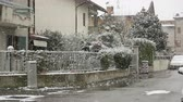 neve : Nevicata in the City Filmati Stock