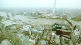 europe : Aerial View of London with Tower Bridge and Thames river
