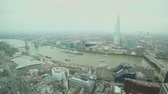 tamisa : Aerial View of London with Tower Bridge and Thames river